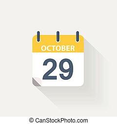 29 october calendar icon