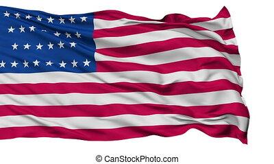 29 Stars USA Isolated Waving Flag - 29 Stars United States...