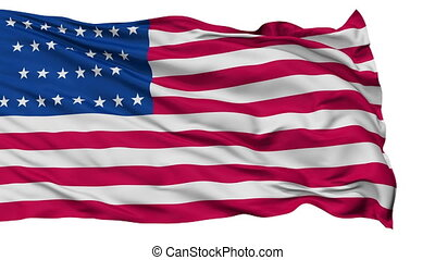 29 Stars USA Isolated Waving Flag - 29 Stars United States...