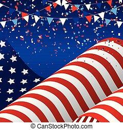 2905, 旗, アメリカ人, 第4, 背景, 7月