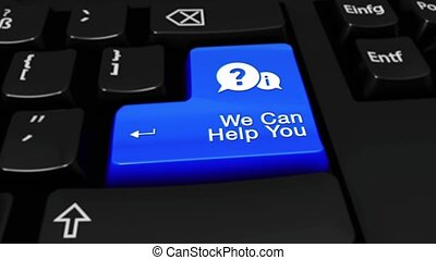 297. We Can Help You Round Motion On Computer Keyboard Button.