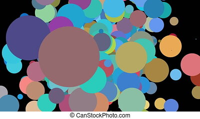 2d abstract color circle for flyer design 4k