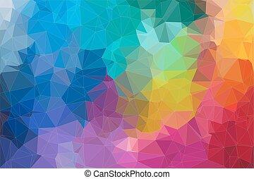 2d, abstract, driehoek, mozaïek, achtergrond