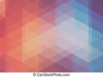 2d, abstratos, triangulo, mosaico, fundo