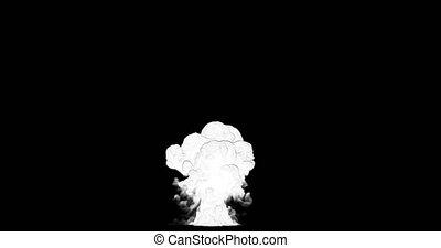 2d cartoon smoke big explosion