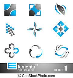 2d, elementos, abstratos, -, 1, jogo
