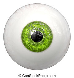 green human eye ball