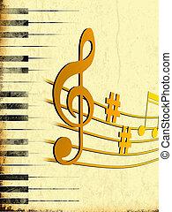 music - 2d illustration of music background