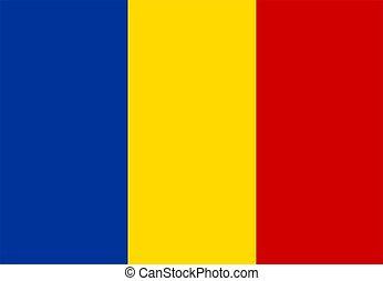 flag of Romania - 2D illustration of the flag of Romania ...