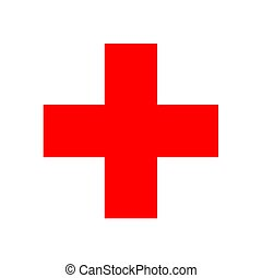 Red Cross sign - 2D illustration of the Red Cross sign