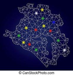 2D Polygonal Vector Krasnodarskiy Kray Map with Colorful ...