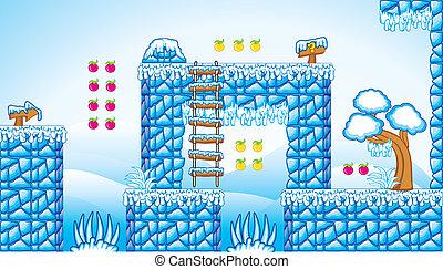2D Tileset Platform Game 10 - Tile set Platform for Game - A...