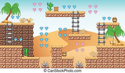 2D Tileset Platform Game 11 - Tile set Platform for Game - A...