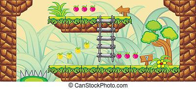2D Tileset Platform Game 12 - Tile set Platform for Game - A...