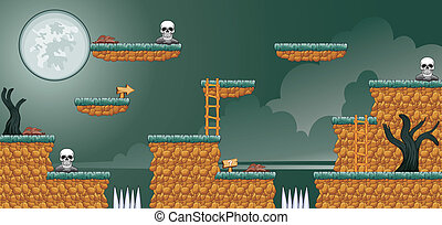 2D Tileset Platform Game 16 - Tile set Platform for Game - A...
