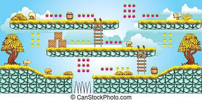 2D Tileset Platform Game 46 - Tile set Platform for Game - A...