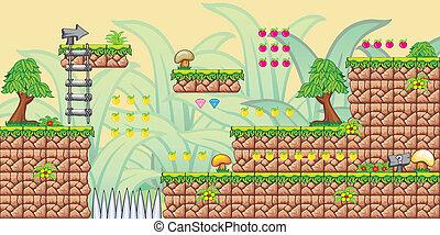 2D Tileset Platform Game 8 - Tile set Platform for Game - A...
