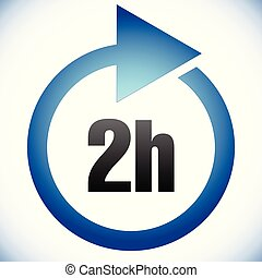 2h Turnaround time (TAT) icon. Interval for processing, ...
