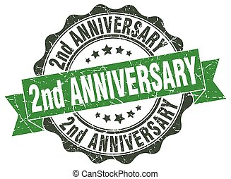 2nd anniversary stamp. sign. seal