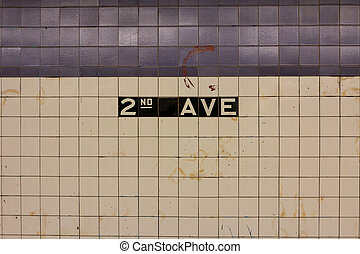 2nd AVE Station Sign