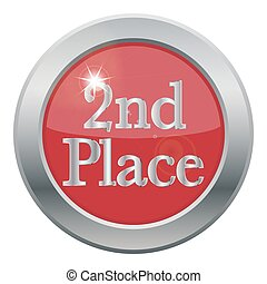 2nd Place Icon - A 2nd place icon isolated on a white...