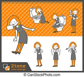 2tone type Bob hair dress woman_set 09