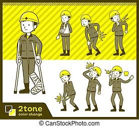2tone type helmet construction worker men_set 08