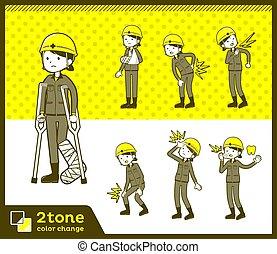 2tone type helmet construction worker woman_set 08