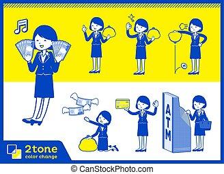 2tone type suit business women_set 11