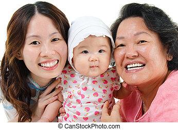 3世代, アジア 家族