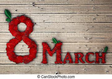 3月, 8