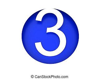 3次元である, 数字。