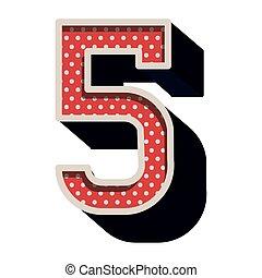 3次元である, 点を打たれた, 色, ナンバー5, 赤