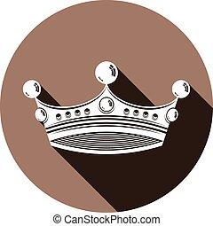 3次元である, 要素, 皇族, シンボル。, インペリアル判王冠, デザイン, 贅沢, 宝冠, 威厳がある, 流行, icon., 3d, リーガル, illustration.