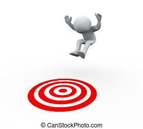 3차원, 사람, 목표, 점프