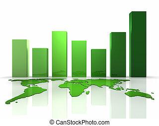 3차원, 사업, 녹색, 도표