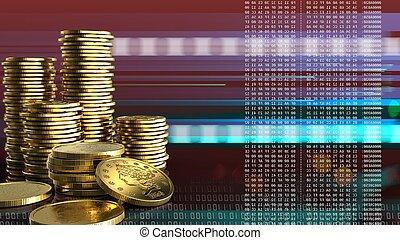 3차원, 황금, 은 화폐로 주조한다