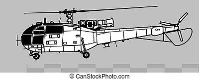 3, áttekintés, alouette, vektor, önvédelmi fegyverek, 316, ...