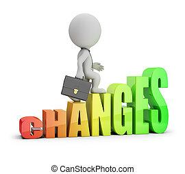 3, -, ændringer, folk, lille