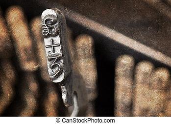 3, és, lövet, kalapács, -, öreg, manual írógép, -, meleg, szűr