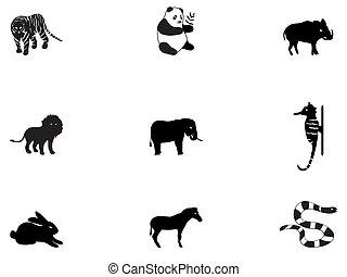 3, ícones animais