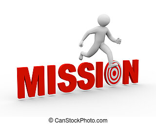 3, över, hoppning, mission, man