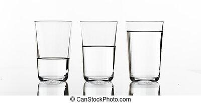3 βάζω τζάμια , από , νερό