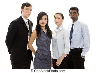 3, разнообразный, бизнес, команда
