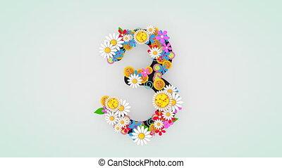 """3."""", цветочный, анимация, """"numerical, разряд"""