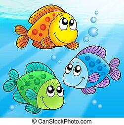 3, かわいい, 魚