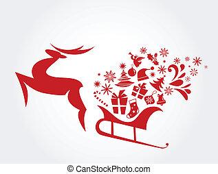 3, -, クリスマス, 背景