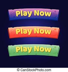 3, ボタン, 今, セット, アーケード, games., プレーしなさい, ビデオ