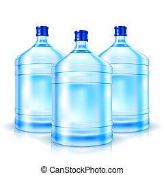 3, 大きい, びん, ∥で∥, 水をきれいにしなさい