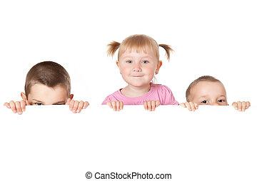 3, 子供, の後ろ, 白人の委員会